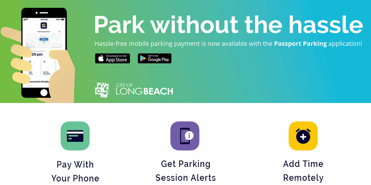 Mobile Pay For Parking In Long Beach Ca City Of Long Beach Parking